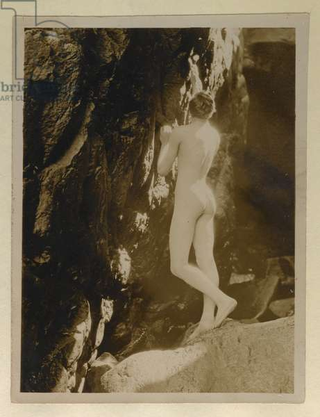 Photograph of Alistair Graham naked, kept with his letter to Evelyn Waugh, c.1924 (gelatin silver print)