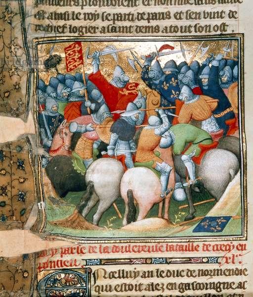 Cotton Nero E. II pt.2, fol.152v The Battle of Crecy (vellum)