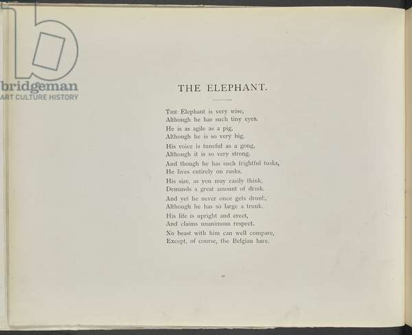 The elephant, from 'Tails with a Twist', by Edwin Arnold, 1898 (litho)