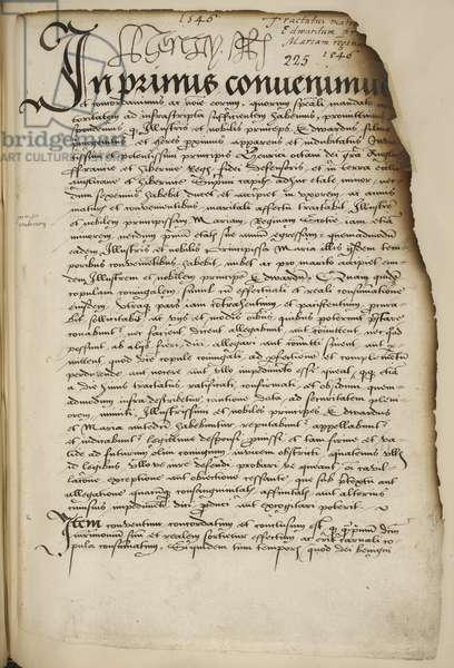 Marriage Treaty between Prince Edward and Mary, Queen of Scots