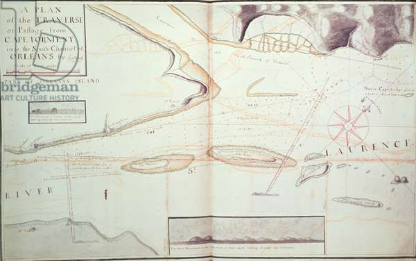 A Plan of the Traverse or Passage from Cape Torment into the South Channel of Orleans, c.1775-79 (pen & ink on paper)