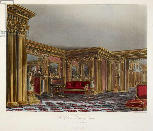 The golden drawing room. Carlton house.