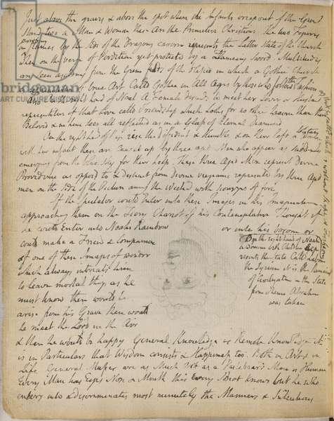 Sketch of William Blake