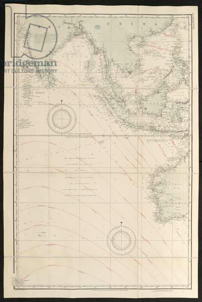Map covering the Indian Ocean, Indian Ocean, 1863 (published 1928)