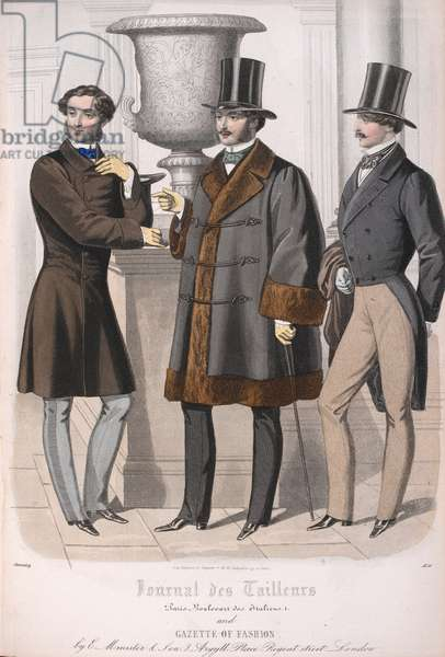 Three men, one wearing a fur lined coat.