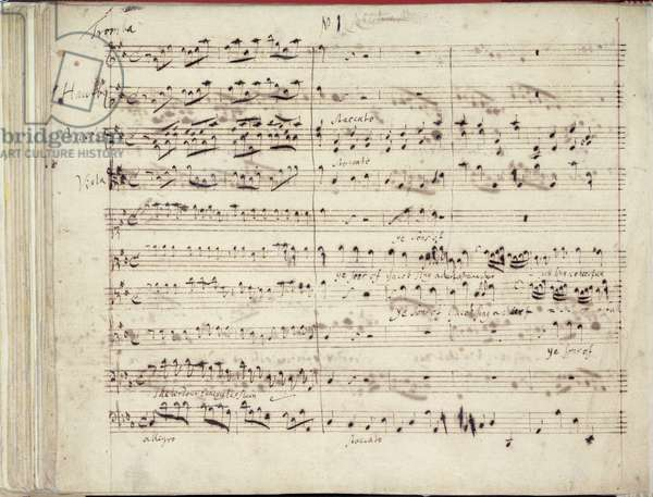 RM 20 E7 f.51v One of two pages of Handel's Manuscript of the Oratorio 'Esther'