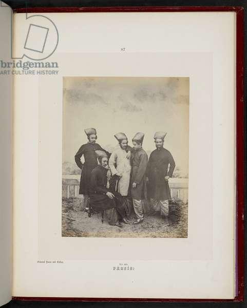 Parsis, Bombay, 1856-60 (b/w photo)