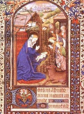 Add 35312 f.42 The Nativity (vellum)