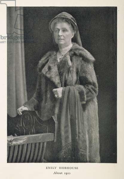 Emily Hobhouse, c.1920 (b/w photo)