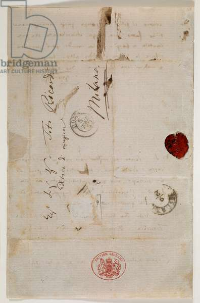Zweig MS 97 f.2v Letter to the publisher Tito Ricordi, Rome, 4 Feb 1859 (ink on paper)