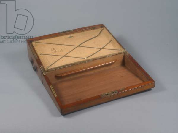 Portable writing desk that belonged to Jane Austen. Open.