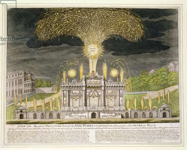 A view of the magnificent structure erected for the fireworks to be exhibited for the solemnization of the General Peace