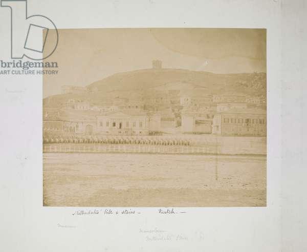 Mithridates' hill & stairs, Kertch, c.1855-56 (b/w photo)