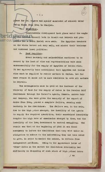 Extract from the Administration Report of the Persian Gulf for the Year 1944 (print)
