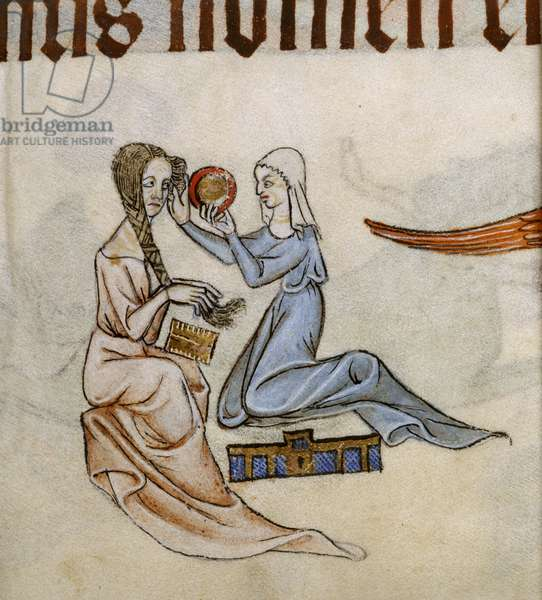 Add MS 42130 f.63 from 'The Luttrell Psalter', 1320-40 (ink & colour on vellum)