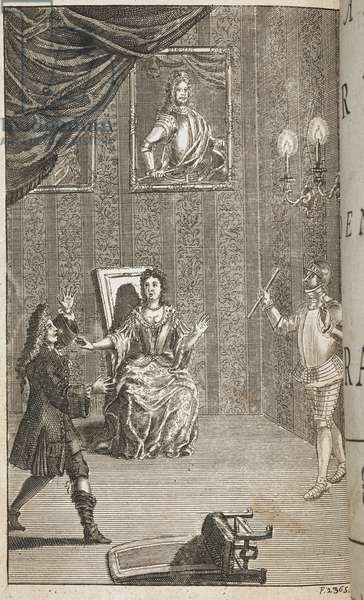 Illustration for the play by Shakespeare, 'Hamlet'.