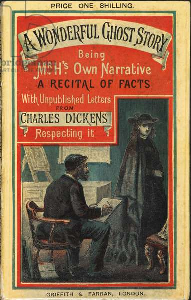 Illustrated cover showing two charcters from a story by Charles Dickens.