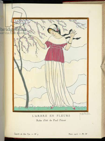 COPYRIGHT Georges Lepape (French, 1887-1971), Illustrating design by Paul Poiret (French, 1879-1944),