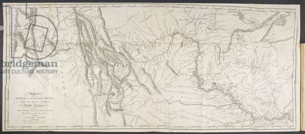 Lewis and Clark Track Map, 1814 (engraving)