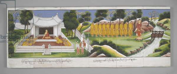Or. 13534, f.3, Scenes from the Life of Buddha (parchment)