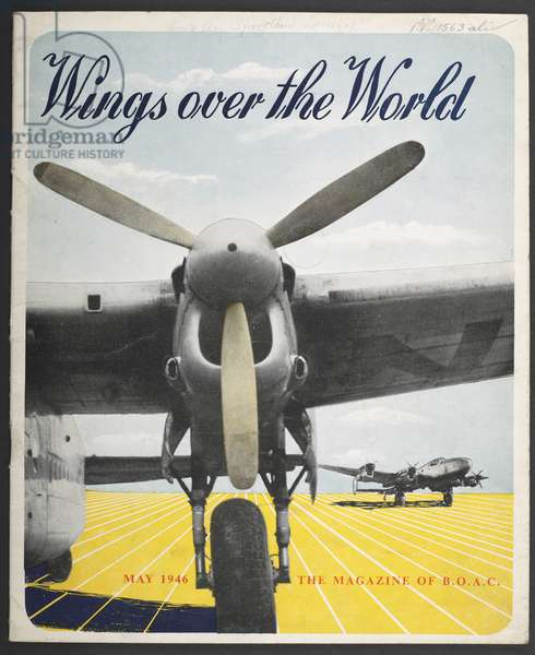 Cover of 'Wings over the World', BOAC magazine, May 1946 (colour litho)