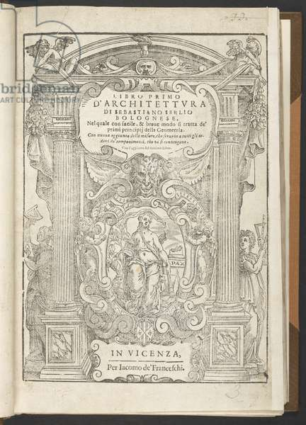 Frontispiece to 'Tutte L'Opere d'Architettura, et prospetiva...', by Sebastiano Serlio, 1619 (engraving)