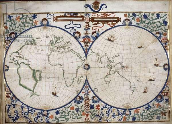 Boke of Idrograph, the Rotz Atlas. 1542
