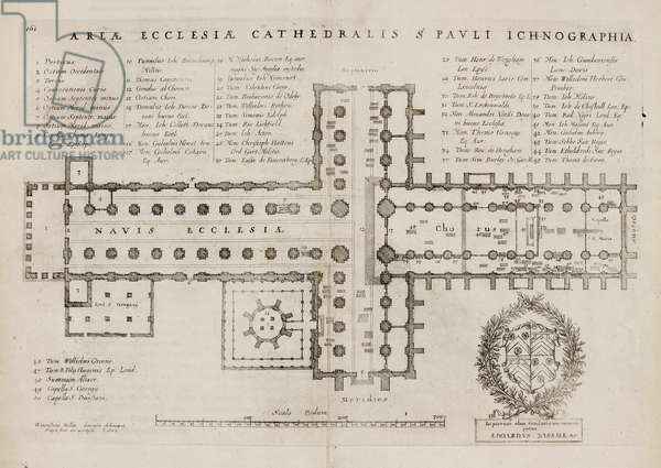 A plan of St. Paul's Cathedral