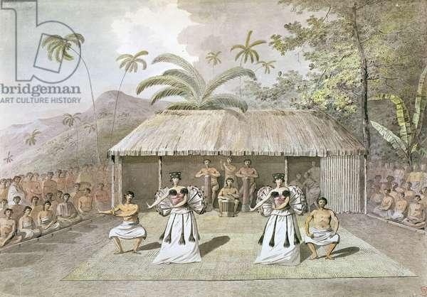Dance on Tahiti, 1777 (w/c on paper)
