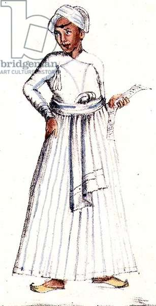 Astronomer, from 'A Digest of the different Castes of India', by Venkata Ramasvani, published Madras 1837 (colour litho)