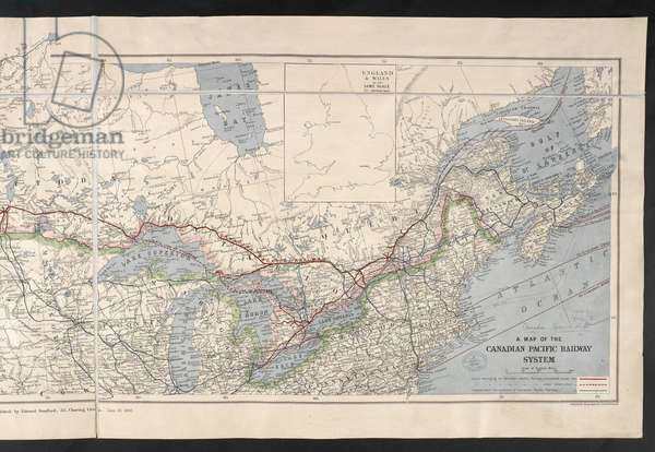 Left half: A Map of the Canadian Pacific Railway System. 1886