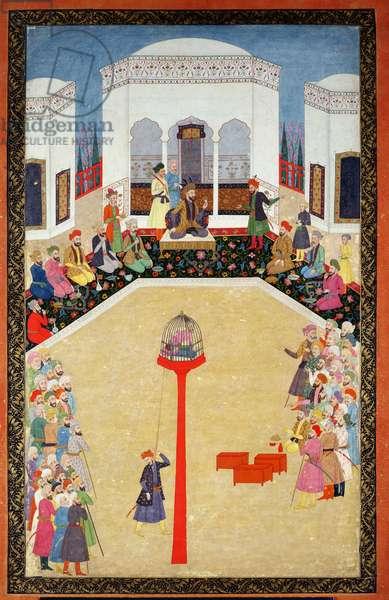 The capture of Sultan Bayazid of Turkey, Johnson Album I, no.2 numbered 9, c1680 (gouache on album leaf)