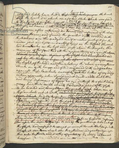 Add MS 27888 f.150r Captain Cook's Journal, 1775 (ink on paper)