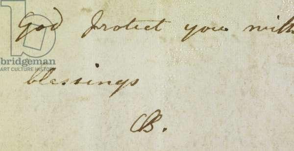 Autograph of Charlotte Brontë.