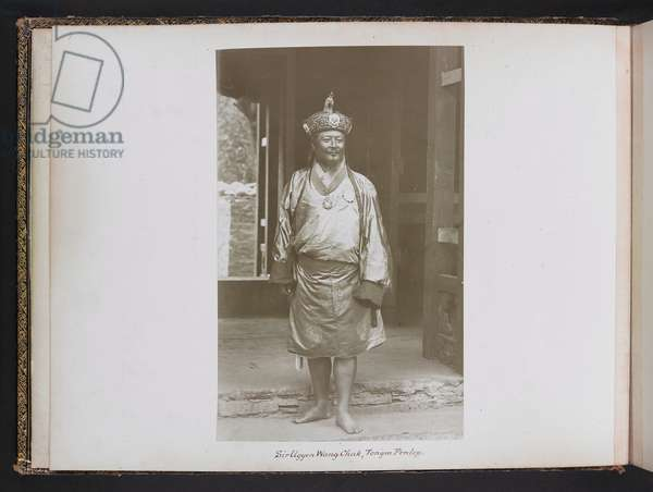 Sir Ugyen Wang Chuk, Tongsa Penlop [Bhutan], 1905 (b/w photo)