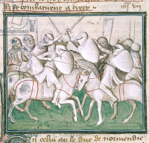 Sloane 2433 C, fol.69v The Battle of Crecy, c.1410 (vellum)