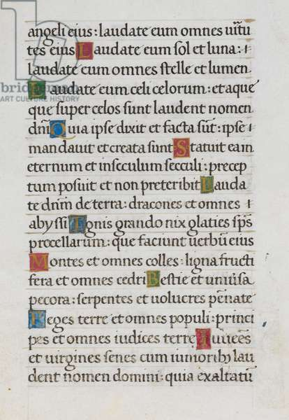 Text page; Psalm 148