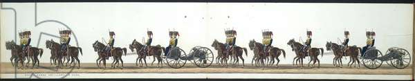 The funeral procession. Royal horse artillery- 8 guns