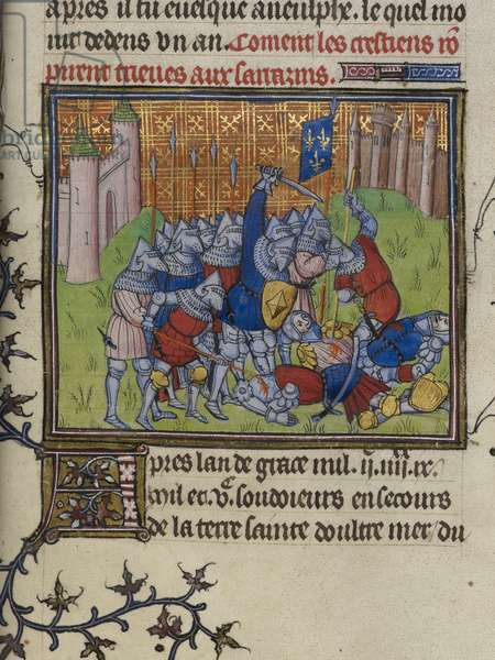 Christians of Acre attack the Saracens.