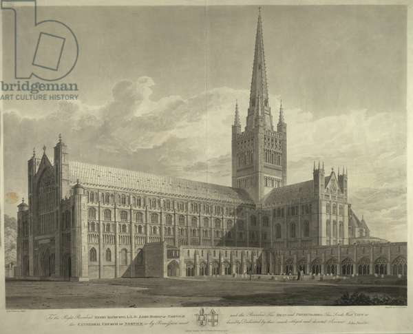 South West view of the Cathedral Church of Norwich