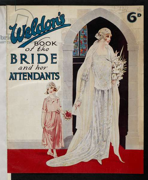 Front cover, from 'Weldon's book of the bride and her attendants', 1927 (colour litho)