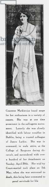 Countess Markievicz. Constance Georgine Markievicz, (4 February 1868 - 15 July 1927).