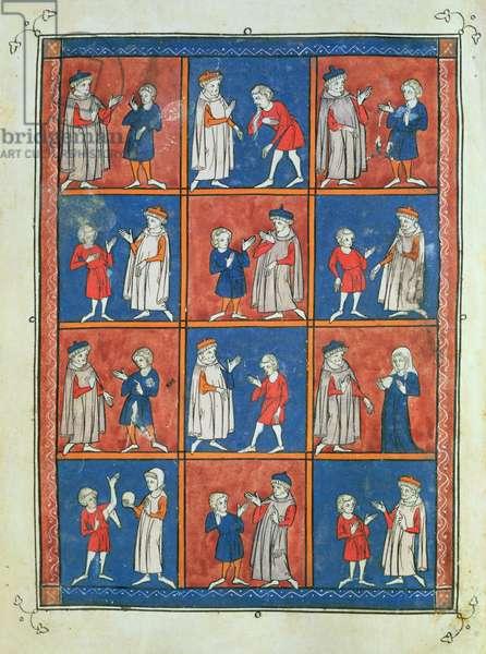 Sloane 1977 fol.51v Twelve Ailments, from 'Chirurgia' by Rogier de Salerne, 1300-10 (vellum)