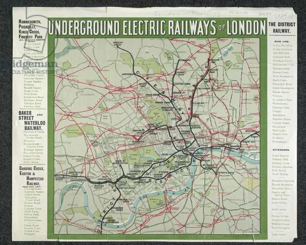 Map of the Underground Electric Railways of London