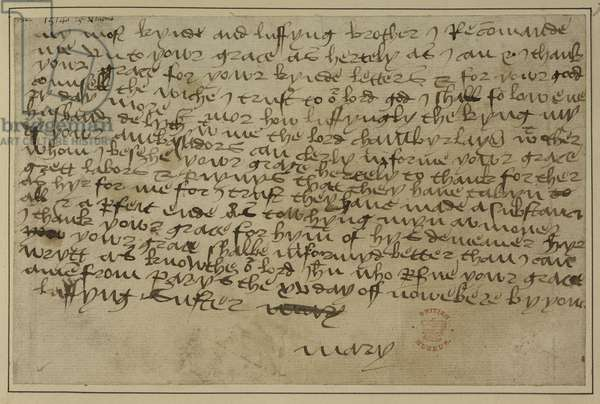 Letter from Mary Tudor to Henry VIII