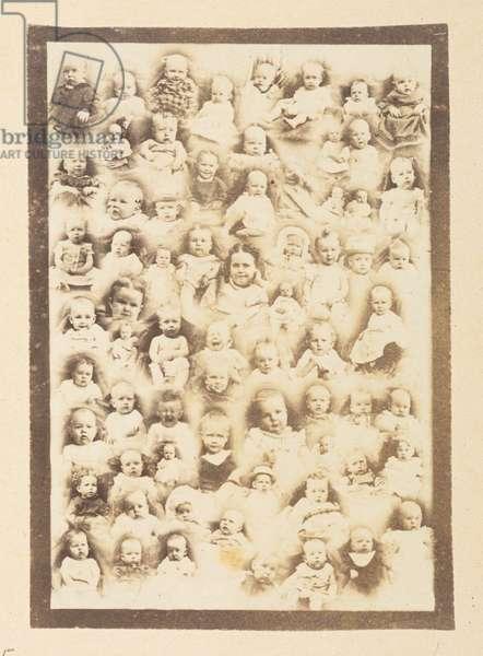 Mormon babies, 1870s (b/w photo)