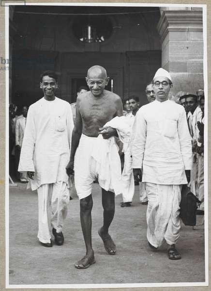 Mr Gandhi after first interview [at New Delhi].