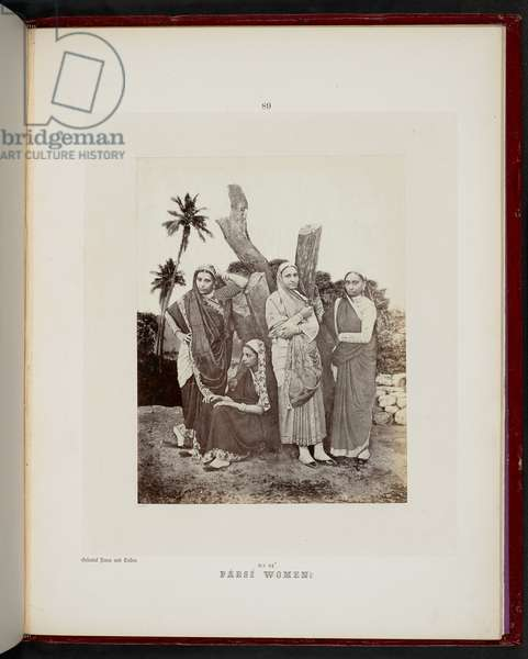 Parsee Women, Bombay, 1856-60 (b/w photo)