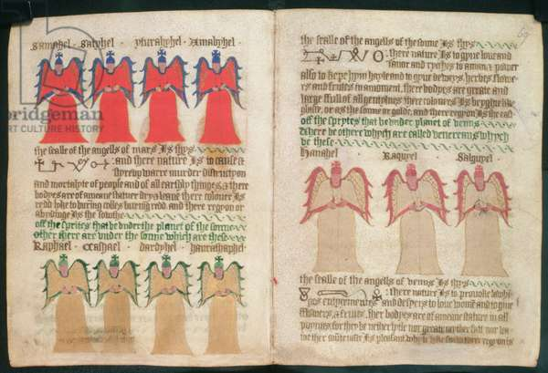 Royal Ms 17 A XLII  ff.68v-69  The Angels of Mars, the Sun and Venus (vellum)