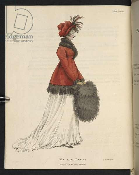Plate from 'The mirroir de la mode', 1803-04 (coloured engraving)
